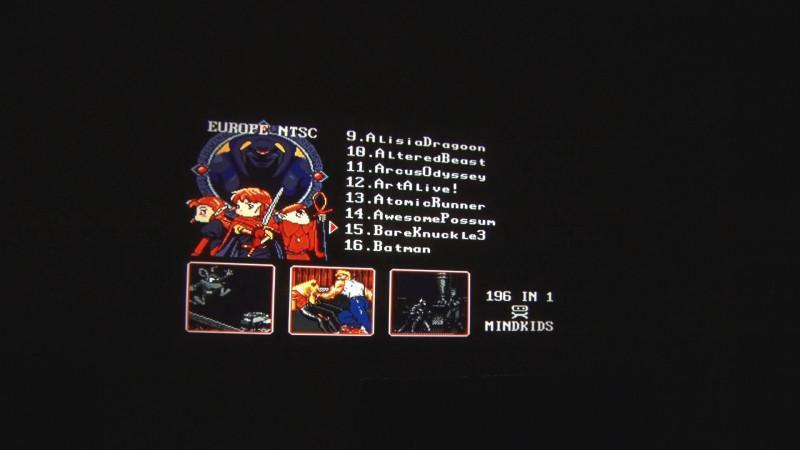 Картридж 196 in 1 для Sega Genesis 16 bit