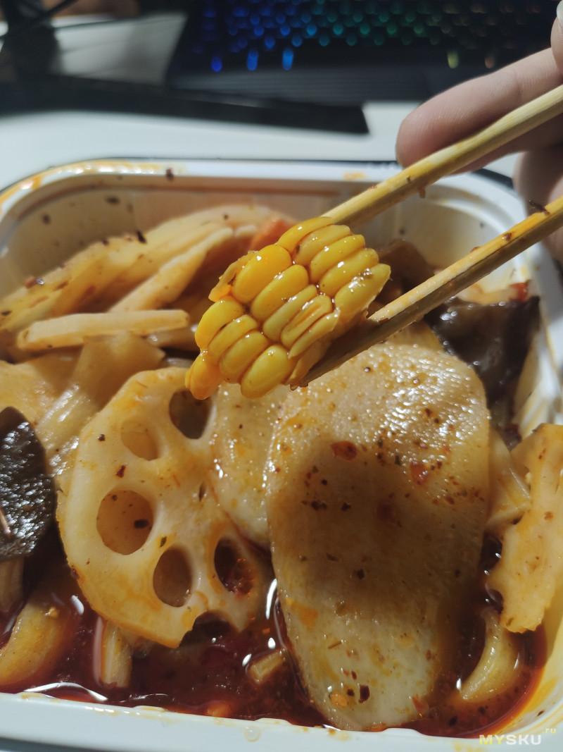 Острая самозаваривающаяся лапша Baicaowei Spicy