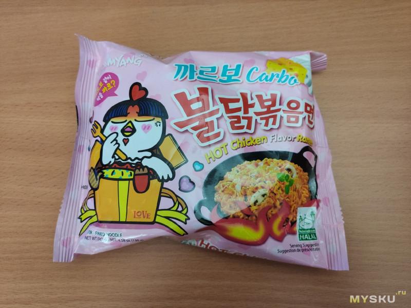 Острая лапша Samyang со вкусом курицы в соусе карбонара