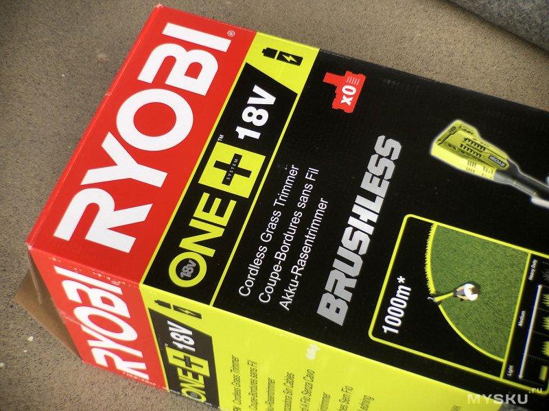 Бесщеточный аккумуляторный триммер Ryobi OLT1833 18V ONE+